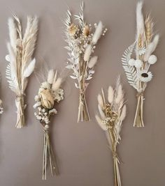 Small Bouquet, Dried Flower Bouquet, Dried Flowers, Feather Bouquet, Paper Flowers Diy, Table Flowers, Gift Flowers, Diy Paper, Bud Vases