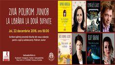 Joi, 22 decembrie 2016, la Timişoara, scriitori-părinţi prezintă noua colecţie Polirom Junior 22 Decembrie, Joi, Ideas, Thoughts