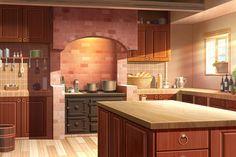 anime background kitchen episode backgrounds interactive fantasy scenery