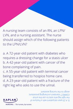 Check out Kaplan's FREE question of the day for some more NCLEX practice. Question Of The Day, This Or That Questions, Nclex Practice Questions, Test Prep, Nursing, Cancer, School, Check, Free