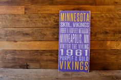 Minnesota+Vikings+Distressed+Wood+SignGreat+by+SportsSigns+on+Etsy,+$50.00