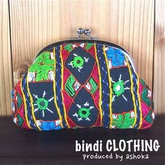 bindi がま口ポーチ ethnic,embroidery,pouch