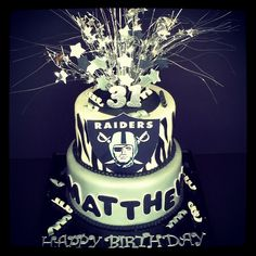 Raiders birthday cake by Custom Cakes By Tracee, via Flickr My mom may need to try this one...but with a different team