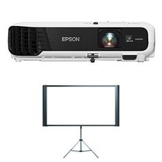 Epson VS340 XGA 3LCD Projector 2800 Lumens Color Brightness with Projector Screen Bundle. Far more accurate color with Epson - 3lcd, 3-chip technology for 3x higher color brightness and up to 3x wider color gamut than competitive DLP projectors. Look for two numbers: 2800 lumens Color Brightness for more accurate, vivid color2800 lumens White Brightness for well-lit rooms. XGA resolution (1024 x 768) - 1.5x more resolution than SVGA for projecting advanced presentations with text-heavy...