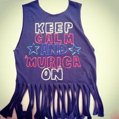 4th of July tshirt. #diy