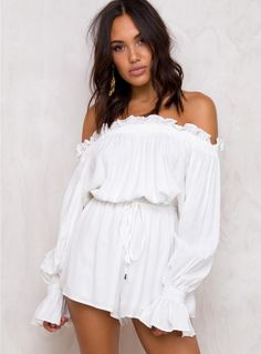 Cavatina Off The Shoulder Playsuit