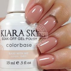 nails.quenalbertini: 'Kiara Sky' Bare With Me