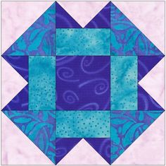 Folded Corners 10 Inch Paper Foundation Quilting Block Pattern by HumburgCreations on Etsy Quilting Projects, Quilting Designs, Sewing Projects, Paper Piecing Patterns, Quilt Patterns, Quilt Block Patterns 12 Inch, Quilt Sizes, Scrappy Quilts, Barn Quilts