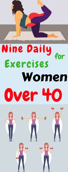 Nine Daily Exercises for Women Over 40 - My Amazing Stuff