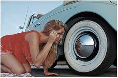 VW Beetle wheel mirror