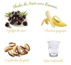 Shake de açaí com banana