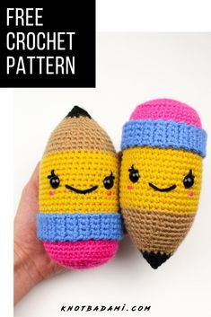 It's back to school season, get started with your new diy project! Get started with amigurumi with this crochet pattern. Create your own cute crochet pencil with this easy crochet pattern that is great for school. Cute and kawaii, this basic and beginner friendly DIY project is perfect for any crocheter. This stuffed pencil amigurumi is perfect for home decor! Easy and free stuffed animal pencil. This was made in collaboration with JOANN stores #sponsored #handmadewithJOANN Romantic Home Decor, Cute Home Decor, Cute Crochet, Crochet Hats, Easy Crochet Patterns, Cute Characters, Learn To Crochet, Plushies, Create Your Own