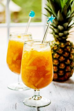 Pineapple rum, fresh