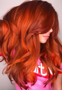 red hair Copper Hair Color Shades: Copper Hair Dye Tips Magenta Hair Colors, Hair Color Shades, Hair Dye Colors, Red Hair Color, Cool Hair Color, Red Hair For Cool Skin Tones, Red Orange Hair, Bright Red Hair, Orange Ombre