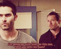 Peter Hale and Melissa McCall Teen Wolf Mtv, Teen Wolf Stiles, Sterek, Melissa Mccall, Peter Hale, Teen Wolf Quotes, Wolf Stuff, Fantasy Series, Nurse Humor