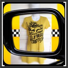 """⚫️ BOGO 1/2 OFF Fox Racing Fitted Tshirt Top  BOGO 1/2 OFF see Sale Post in my closet for more details   Adorable yellow short sleeve fitted Tshirt with """"Fox"""" logo and graphic print on the front...from PacSun Brand: Fox Racing Size: XS (runs big in my opinion and Small could probably wear this too...see measurements for fit) Measurements: length - 25.5""""; chest - 17"""" flat, unstretched Condition: preowned - good Fox Tops Tees - Short Sleeve"""