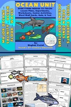This Ocean Unit includes lesson plans, worksheets, assessments, hands-on activities, digital activities, and MORE! #vestals21stcenturyclassroom #science #teachingscience #scienceleassons #ocean #oceanlessons #oceanprojects #oceanactivities