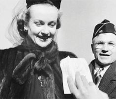 The last footage of Carole Lombard, January 15, 1942. Here seen in Indianapolis during her war bond tour. Carole's last-minute decision to fly home instead of taking the train would take her life only 24 hours later