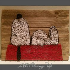 Snoopy string art. All Strung Up
