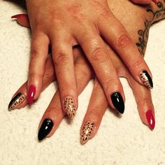 Supernail progel gel polish freehand nail art X