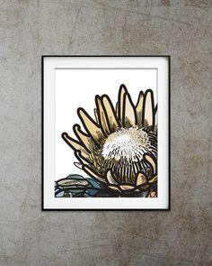 "Protea print Botanical art Protea flower art Instant download Printable art Floral art Wall art large Digital download art Large wall art USE THE CODE ""PINTEREST"" TO RECEIVE 30% OFF!"