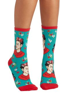 Frida Express Yourself Socks. Ready to express your free spirit? #blue #modcloth