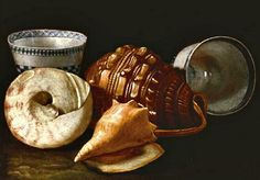 Cristoforo Munari  Three Shells and Two Ceramic Bowls  18th century