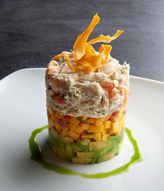 Indulge in some stacked deliciousness! Shrimp, Crab, Avocado, and Mango Stack at Chart House Atlantic City!