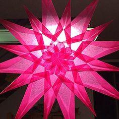 fj - Florian Janich Paper Snowflake Patterns, Paper Snowflakes, Kirigami, Folded Paper Stars, Rosa Tattoo, Christmas Diy, Xmas, Rose Window, Mini Chandelier