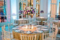 decoração tiffany, violeta, rosa e branco