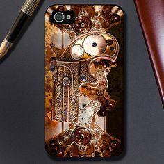 Phone Case - iPhone 6 - 6 Plus - 4/4S- 5/5S -5C Case - Gold Steampunk- Plastic, Rubber or Tough Case