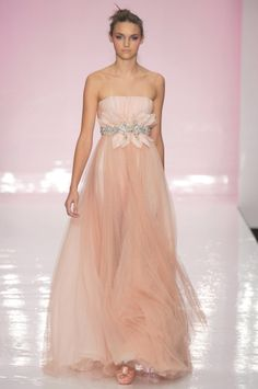 If I were to ever get married, this would be my dress- simple and pink.  Love this!
