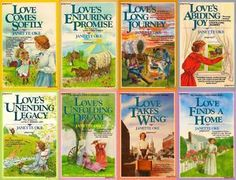 Janette Oke's Love Comes Softly series. I loved these books when I was younger, and though I now get bored in them, they're still good.