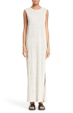 ALEXANDER WANG T By Alexander Wang Heathered Linen Jersey Maxi Dress. #alexanderwang #cloth #