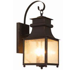 Homesteader Seeded Glass Outdoor Wall Lantern - 3 Light bronze