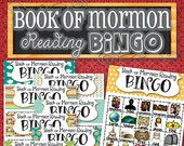 Book of Mormon READING Bingo - INSTANT DOWNLOAD