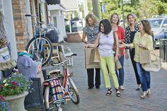 Girlfriends shopping in downtown Alpharetta