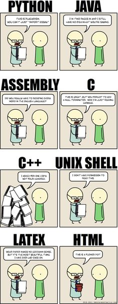 Writing an Essay in programming languages. Nerd humour, funny nerd meme