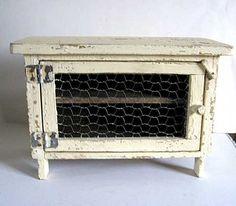 Vintage 1920's Mini Size Pie Safe Cupboard by kelleystreetvintage