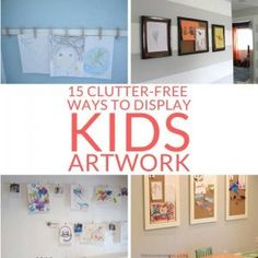 Want to show off your children's art but can't stand the clutter? No problem. These clutter-free ideas to display kids artwork are just what you need. Household Cleaning Tips, House Cleaning Tips, Spring Cleaning, Cleaning Hacks, Oven Cleaning, Cleaning Products, Cleaning Solutions, Ink Cartridge Reset, White Vinegar Cleaning