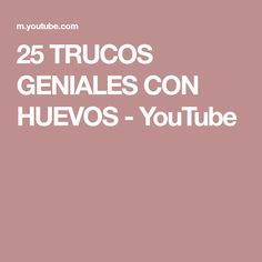 25 TRUCOS GENIALES CON HUEVOS - YouTube Huevos Fritos, Mango, Make It Yourself, Youtube, Blog, Cake Toppings, Egg Fast, Egg Rolls, Slow Cooker