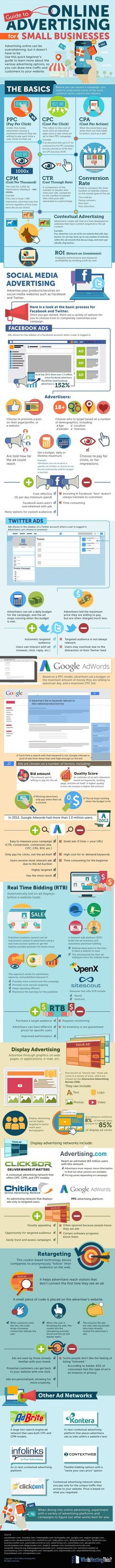 awesome Guide To Online Advertising For Small Businesses - #infographic