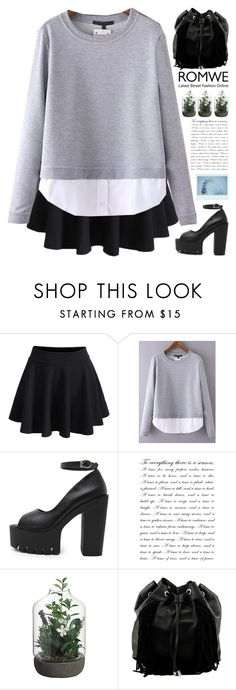 """""""Romwe 4"""" by scarlett-morwenna ❤ liked on Polyvore featuring Steve Madden, women's clothing, women, female, woman, misses and juniors"""