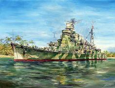 Heavy cruiser Takao in 1945.