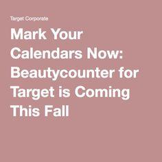 Mark your calendars now: Beautycounter for Target is coming this fall! Beautycounter.com/jilindadygert