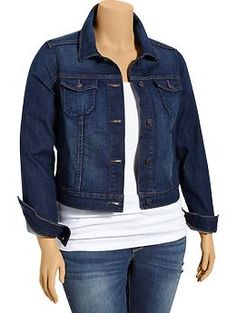 Womens Plus Cropped Denim Jackets - Everyday Steals  Perfect for taking all my dresses into fall.