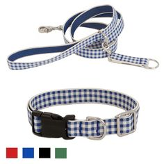 Felix Chien - Gingham Collar and Leash Set, $39.00 (http://www.felixchien.com/gingham-collar-and-leash-set/)