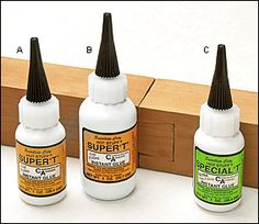 Super T & Special T Cyanoacrylates - Lee Valley Tools