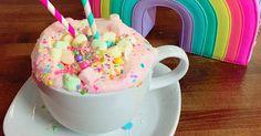 We said *almost* too pretty. Unicorn aficionado Joanna Czikalla created the drink using pink-dyed white hot chocolate and confetti-colored marshmallows.