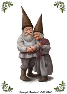 This Garden Gnome couple enjoy a healthy snuggle as shown on this ...